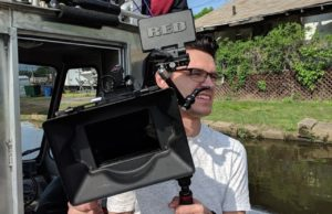 Dean Tatulli and Jack Wrenn Prepare to Shoot on the Delaware River
