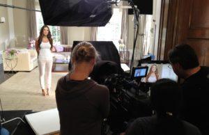 Jillian Barberie on location in Beverly Hills